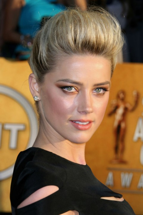 Amber Heard at the Screen Actors Guild Awards 2012
