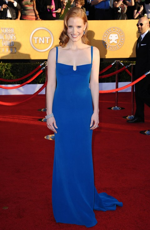 Jessica Chastain at the Screen Actors Guild Awards 2012
