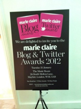 Marie Claire Blog &amp; Twitter Awards 2012-Marie Claire UK