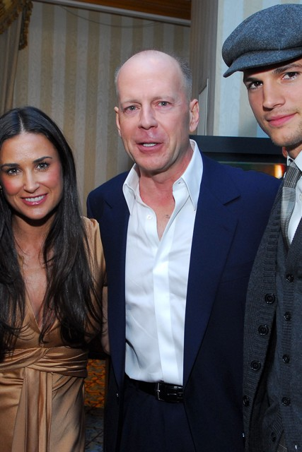 Demi Moore, Ashton Kutcher and Bruce Willis