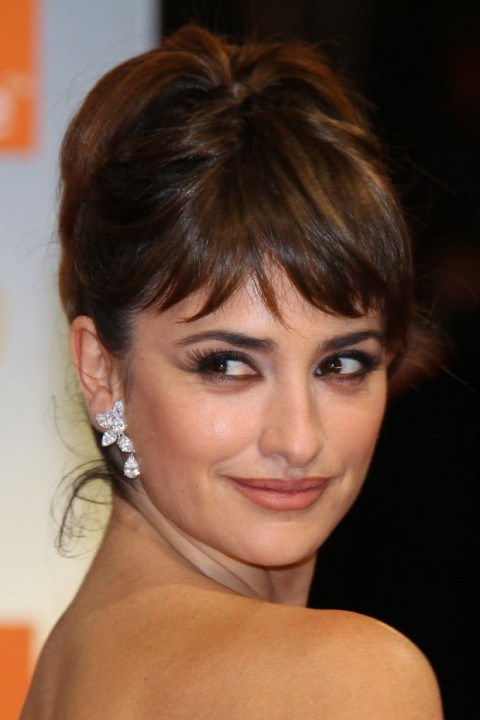 Penelope Cruz at the BAFTA Awards 2012 - hair and beauty