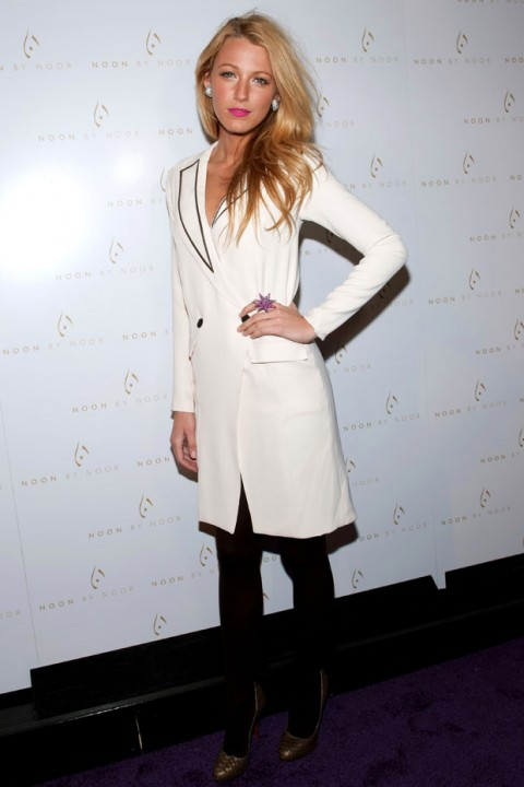 Blake Lively at New York Fashion Week autumn/winter 2012 - front row pictures - fashion - marie claire