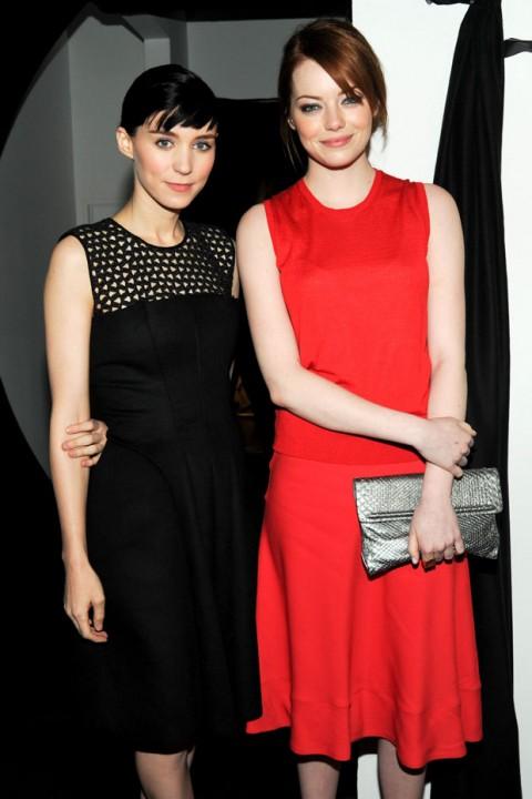 Rooney Mara and Emma Stone at Calvin Klein Collection at New York Fashion Week autumn/winter 2012 - front row pictures - fashion - marie claire