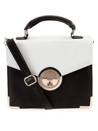 New Look two-tone satchel 