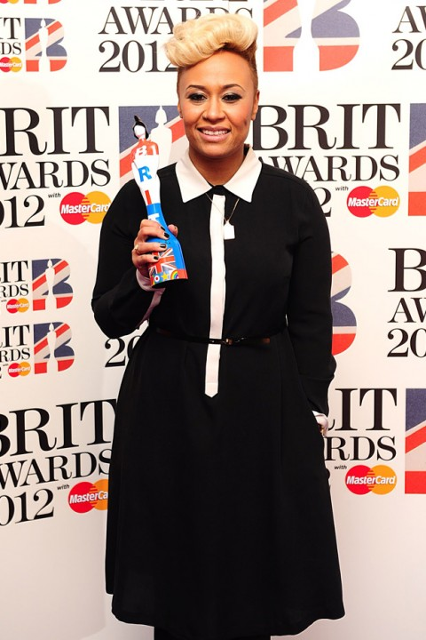 Emilie Sande - The Brit Awards 2012 - Brit Awards 2012: Winners list - Brit Awards Winners - Brit Awards - The Brits - Brit Awards Winners - Marie Claire - Marie Claire UK