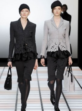 Emporio Armani Autumn/Winter 2012 catwalk collection at Milan Fashion Week