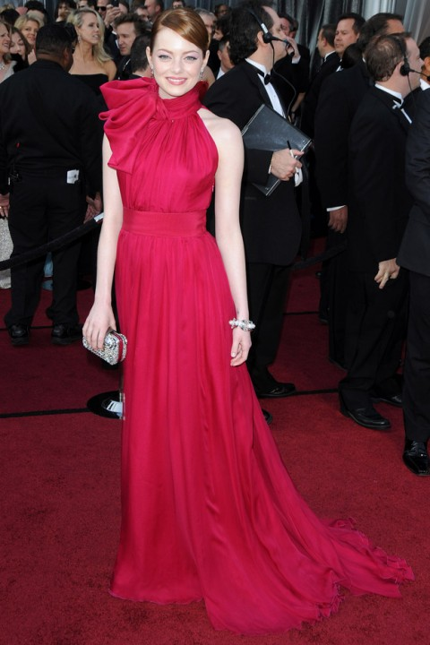 Emma Stone- The Oscars 2012 - Oscars 2012 - 2012 Oscars - 2012 Oscars pics - Oscars Dresses - Oscars red carpet - Marie Claire - Marie Claire UK