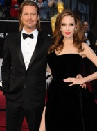 Brad Pitt &amp; Angelina Jolie - The Oscars 2012 - Oscars 2012 - 2012 Oscars - Oscars Pics - Oscars Dresses - Marie Claire - Marie Claire UK
