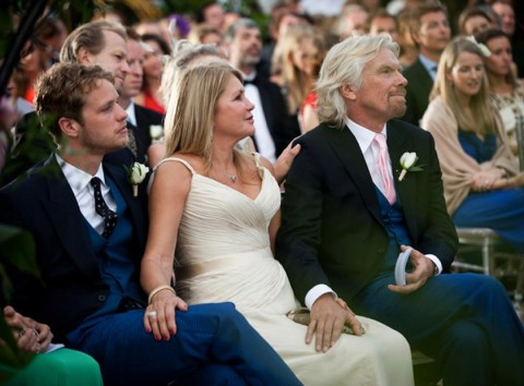Sam, Joan & Richard Branson - Holly Branson's Wedding Album - Holly Branson - Holly Branson Wedding - Marie Claire - Marie Claire UK