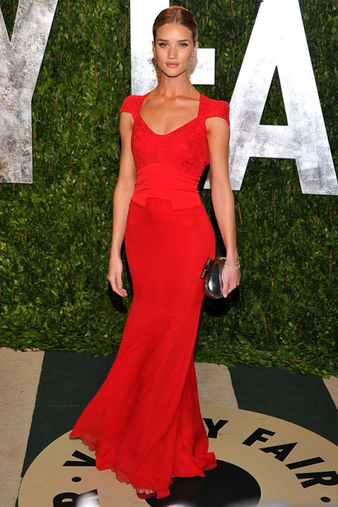 Rosie Huntington-Whiteley at Vanity Fair's Oscars after-party in Los Angeles