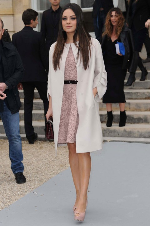 Mila Kunis at Christian Dior at Paris Fashion Week autumn/winter 2012 - front row pictures - fashion