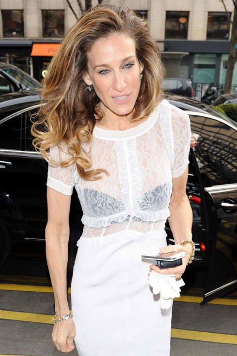 Sarah Jessica Parker out and about at Paris Fashion Week autumn/winter 2012