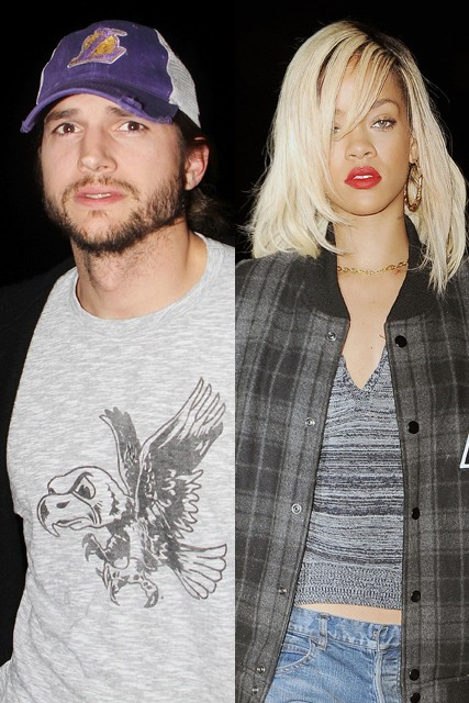 Rihanna, Rihanna boyfriend, Ashton Kutcher, Rihanna and Ashton Kutcher, Ashton Kutcher and Demi Moore, Demi Moore, Demi Moore rehab, Demi Moore and Ashton Kutcher divorce, Rihanna and Chris Brown, Chris Brown, Rihanna dating Ashton Kutcher, Justin Beiber