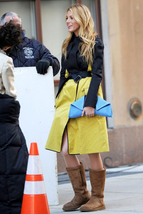 Blake Lively - gossip girl on set style - pictures - marie claire uk