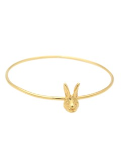 Beau and Arrow, Beau and Arrow Bunny Bangle, fashion, jewellery, jewelry, vintage jewellery, bangles, animal jewellery, gold plated jewellery, fashion, accessories, accessory, fashion bracelets, cool jewellery, Easter presents, Easter, Easter gifts