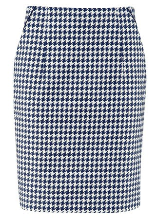 H&M houndstooth skirt, £29.99 - skirt - skirts - best skirts - high street - fashion - shopping - marie claire