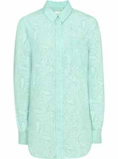 Reiss Leaf Print Oversized Shirt, Reiss clothing, Reiss, shaion, shirt, style, fashion buys, peppermint trends, trends, latest fashion trends, latest fashion buys, Reiss Kate Middleton, best womens shirts, oversized shirts, mint shirt, fashion buy of day