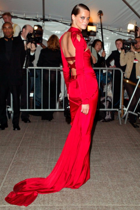 Carmen Kass at the Met Ball