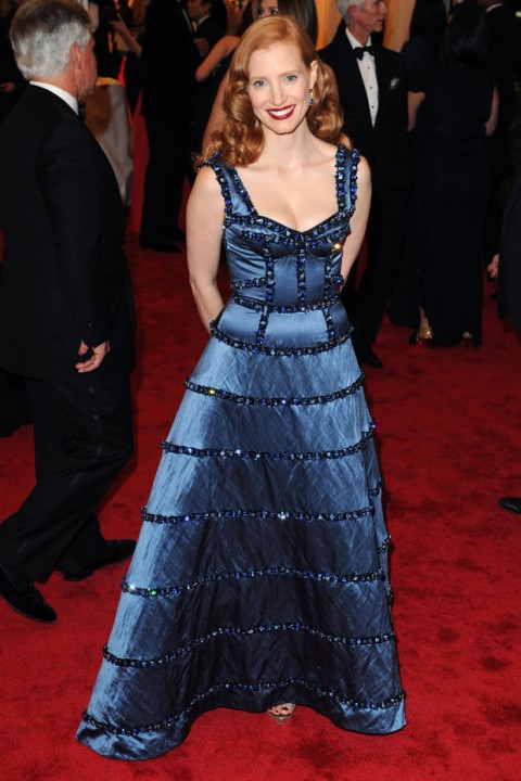Jessica Chastain at the Met Ball 2012 - Costume Institute Gala - Marie Claire