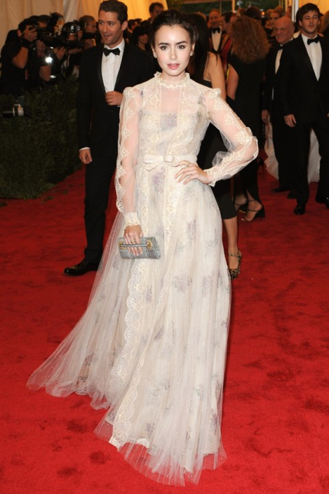 Lily Collins at the Met Ball 2012 - Costume Institute Gala - Marie Claire