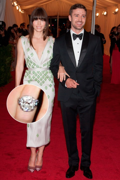 Jessica Biel &amp; Justin Timberlake - Celebrity Engagement Rings - Marie Claire