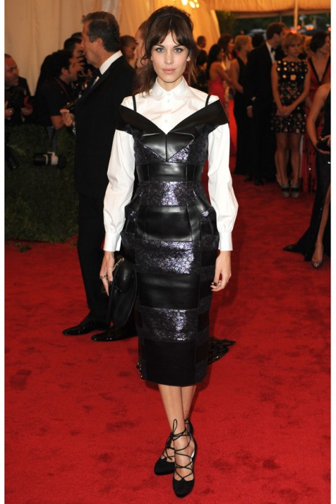 Alexa Chung at the Met Ball 2012