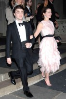 Daniel Radcliffe and Rosie Coker at the Met Ball 2012 after parties
