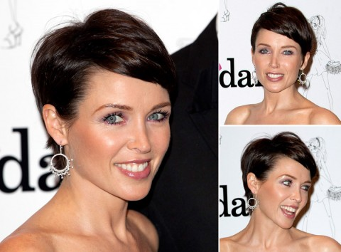 Dannii Minogue with short hair