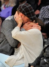 Justin Timberlake and Jessica Biel at an LA Lakers basketball game