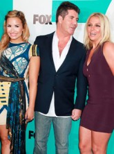 Britney Spears, Demi Lovato and Simon Cowell - US X Factor - X Factor Judges - Marie Claire - Marie Claire UK