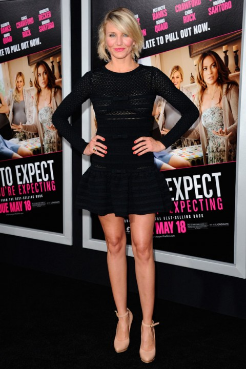 Cameron Diaz at the What to Expect When You're Expecting premiere in Los Angeles