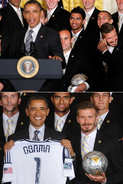 David Beckham and President Barack Obama - David Beckham at the White House - Marie Claire - Marie Claire UK