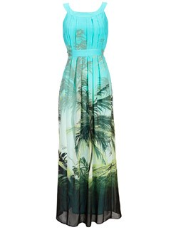 Wallis palm tree print maxi dress