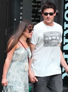 Glee stars Lea Michele &amp; Cory Monteith in New York