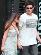 Glee stars Lea Michele & Cory Monteith in New York