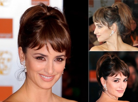 Penelope Cruz with an updo hairstyle