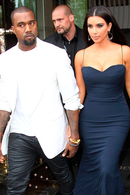 Kim Kardashian and Kanye West cosy up at Fifi awards
