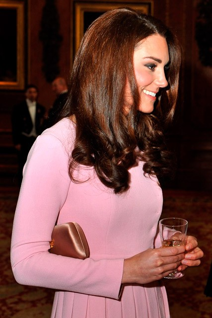 Kate Middleton pretty in pink Emilia Wickstead at Queen's Jubilee lunch