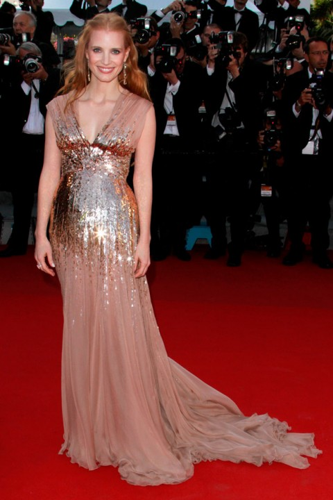 Jessica Chastain at the Cannes Film Festival 2012