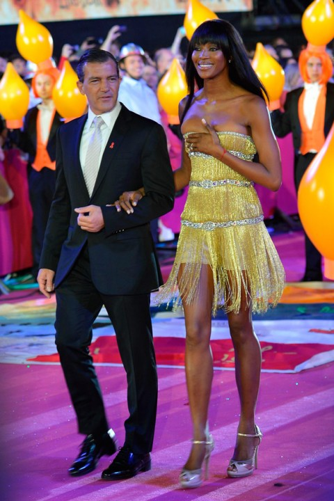 Antonio Banderas and Naomi Campbell at the Life Ball in Vienna Austria