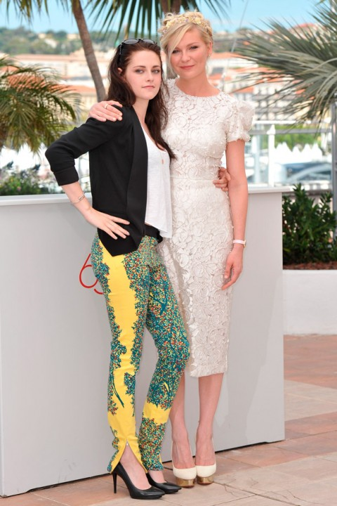 Kristen Stewart and Kirsten Dunst at the Cannes Film Festival 2012