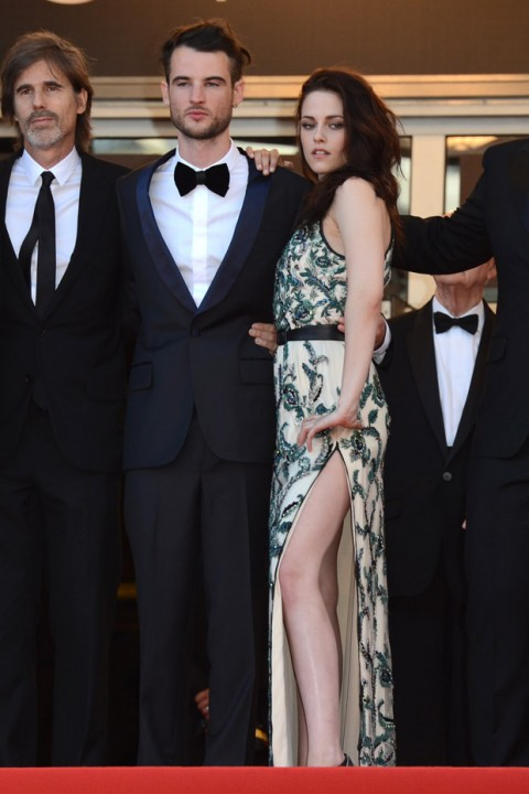 Tom Sturridge and Kristen Stewart at the Cannes Film Festival 2012