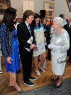 The Queen meets Sir Paul McCartney