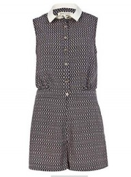 River Island purple print playsuit
