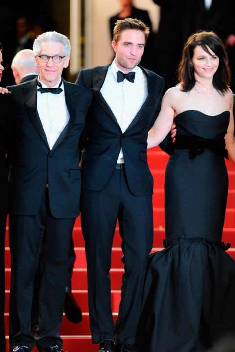 David Cronenberg, Robert Pattinson and Juliette Binoche at the Cannes Film Festival 2012