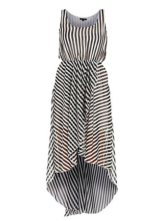 New Look striped dipped hem dress, &pound;29.99