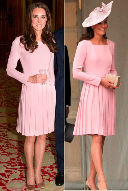 Kate Middleton recycles Emilia Wickstead dress for Buckingham Palace garden party