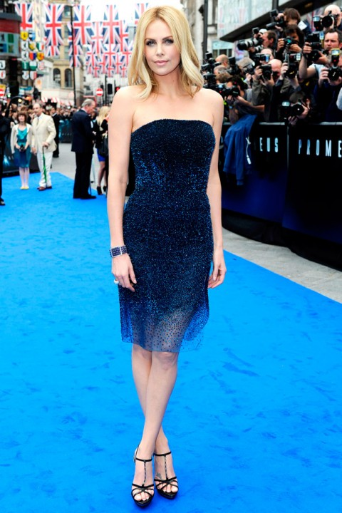 Charlize Theron at the London premiere of Prometheus