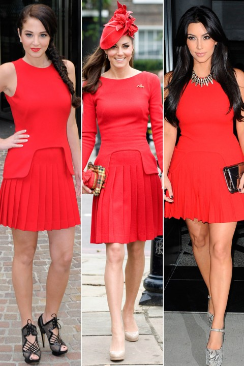 Kate Middleton, Tulisa Contosavlos & Kim Kardashian: Who wore it best?