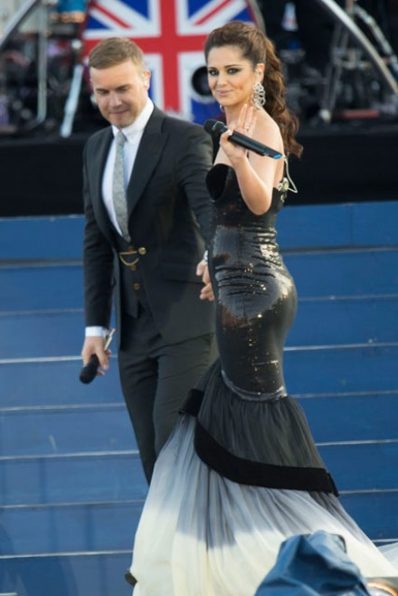 Gary Barlow and Cheryl Cole at the Queen's Diamond Jubilee
